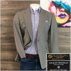 Hickey Freeman Suit Jacket Sport Coat Loro Piana